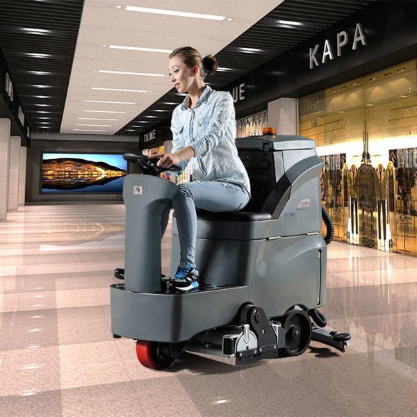 GM-Rmini Поломоечная подметальная машина с посадочным местом для оператора